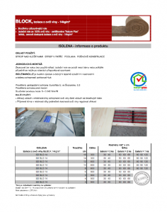 technický list Isolena Block